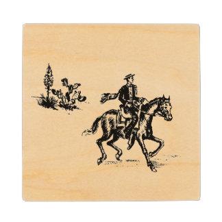 Old California Ranchero Wood Coaster