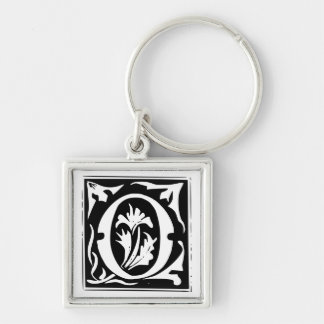 Old Calligraphy Letter O Monogram Keychain