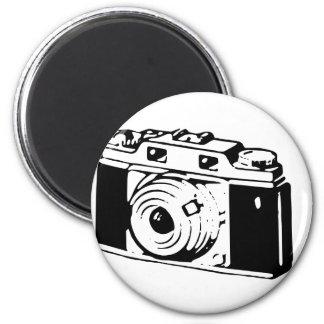Old Camera 6 Cm Round Magnet