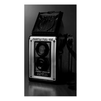 Old Camera Black and White Collectible Photography Business Card Templates