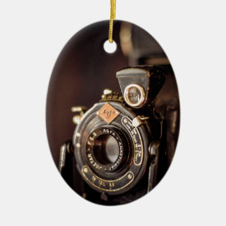 Old Camera Ceramic Oval Decoration