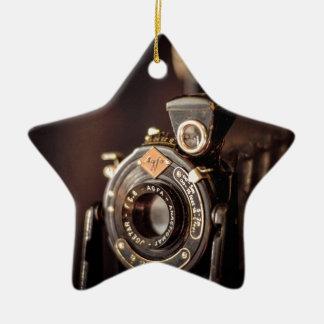 Old Camera Ceramic Star Decoration