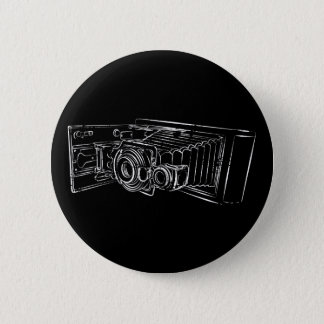 Old Camera in white 6 Cm Round Badge