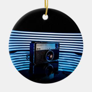 Old Camera:Modern Lighting Christmas Ornament
