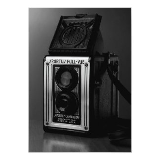 Old Camera on Table Photography Collectible Card 13 Cm X 18 Cm Invitation Card