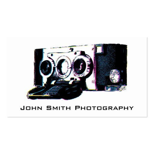 Old Camera Photography Business Card