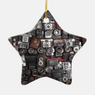 Old cameras christmas ornament