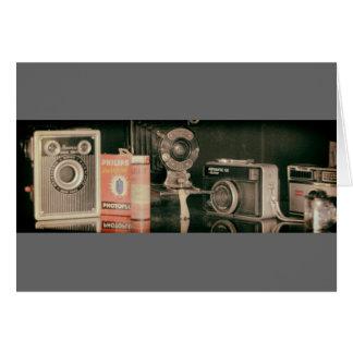 Old cameras hälsnings kort