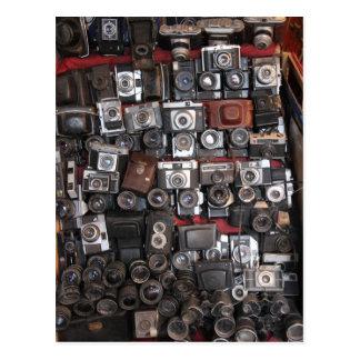 Old cameras postcard