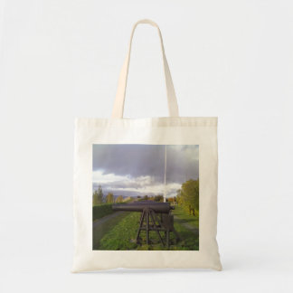 Old cannon canvas bags