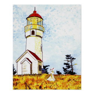Old Cape Blanco Lighthouse Poster
