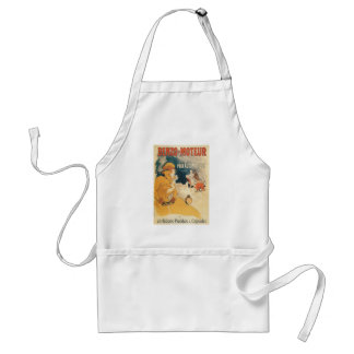 Old car automobile French advertisement Aprons