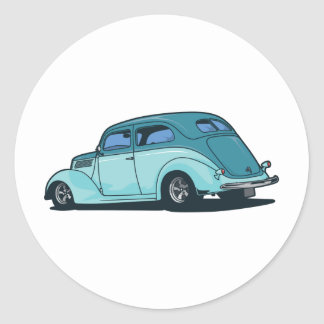 Old Car Classic Round Sticker