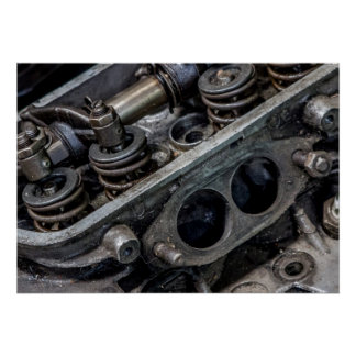 Old Car Engine Poster/Print Poster