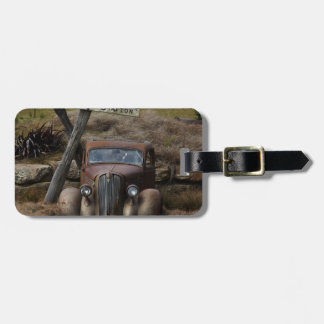Old car luggage tag
