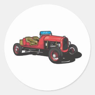 Old Car (Red) Round Sticker
