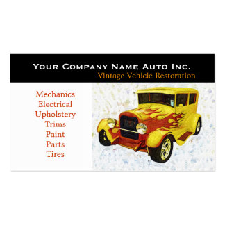 Old Car Repair Shop - Restorations Pack Of Standard Business Cards