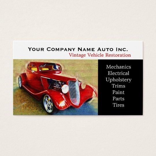 Old Car Repair Shop - Restorations Business Card
