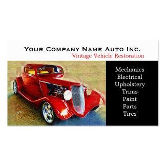 Old Car Repair Shop - Restorations Pack Of Standard Business Cards