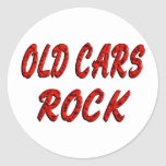 OLD CARS ROCK STICKERS