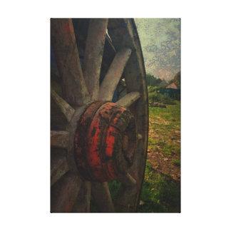Old Cart Wheel Canvas Print