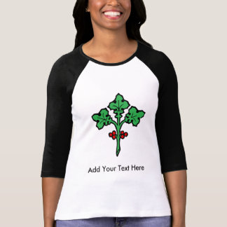 Old Celtic Holly Branch Symbol Tee Shirt