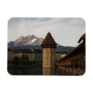 Old chapel bridge lucerne switzerland magnet