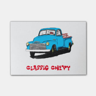 Old Chevy Pickup Truck Post-it Notes