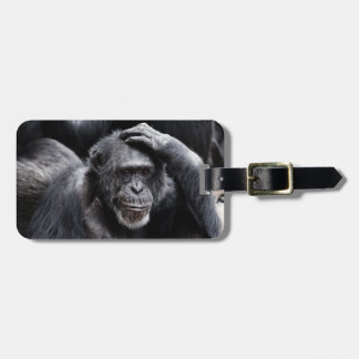 Old Chimpanzee custom luggage tag