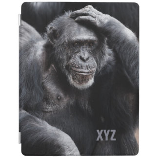 Old Chimpanzee custom monogram device covers iPad Cover