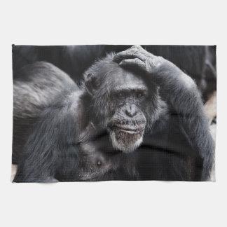 Old Chimpanzee hand towel