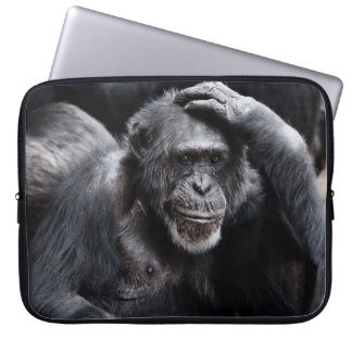 Old Chimpanzee laptop sleeve