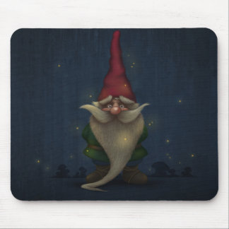 Old Christmas Gnome Mouse Pad