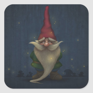 Old Christmas Gnome Stickers
