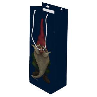 Old Christmas Gnome Wine Gift Bag