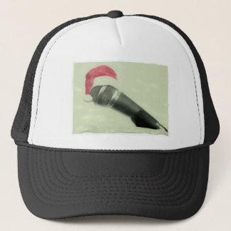 Old christmas microphone trucker hat