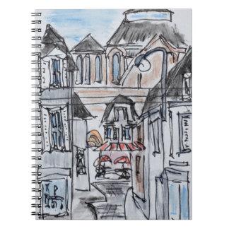 Old Church Concarneau Rue Turenne, Brittany Spiral Notebook