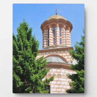 Old church in Bucharest, Romania Plaque