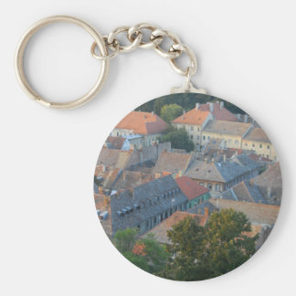 old city basic round button key ring