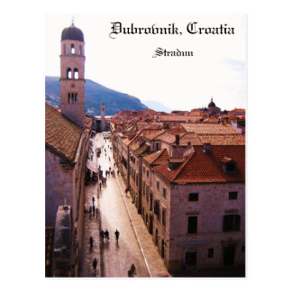 Old City Dubrovnik - Stradun Postcard