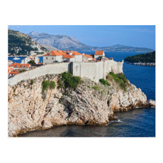 Old City of Dubrovnik on a High Cliff Postcard
