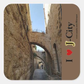 old city of JERUSALEM Square Sticker