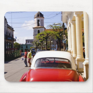 Old classic American auto in Guanabacoa a town Mouse Mat