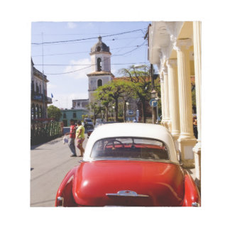 Old classic American auto in Guanabacoa a town Notepad