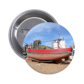 Old Clinker Fishing Boat Pinback Buttons