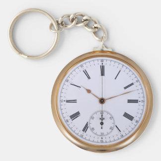 Old Clock Antique Pocket Watch Key Ring