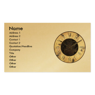 Old Clock Double-Sided Standard Business Cards (Pack Of 100)