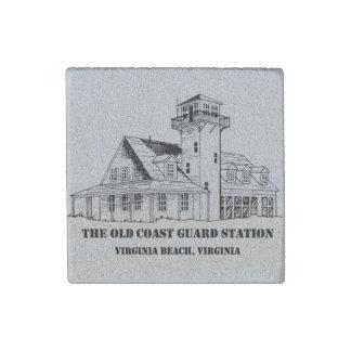 Old Coast Guard Station Logo Sandstone Magnet Stone Magnet