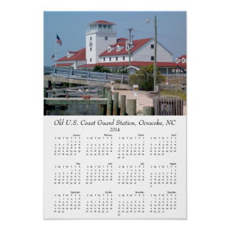 Old Coast Guard Station Outer Banks Ocracoke 2014 Poster