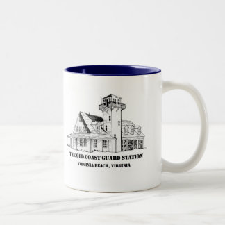 Old Coast Guard Station two tone logo Mug